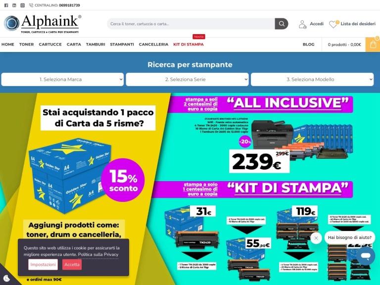 Alphaink screenshot