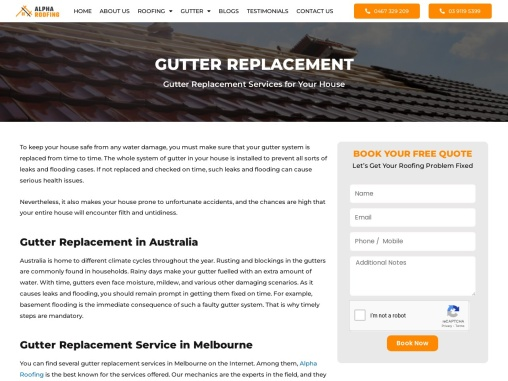 Gutter replacement Services Melbourne