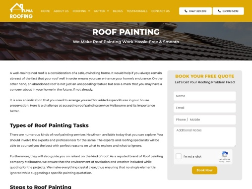 Roof Painting Services Hawthorn