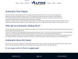 Alpine Door Repair Service – Door Refinishing – Automatic Doors