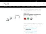 Double Pantry Wall Mount Swivel Base Faucet with 15″ Swing Nozzle