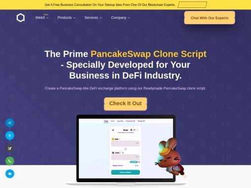 Pancakeswap Clone Script development
