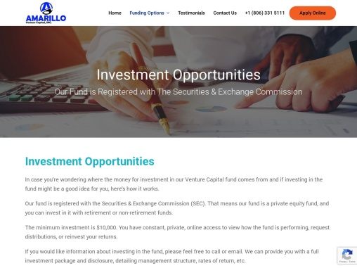 Small Business Loan Amarillo, Texas