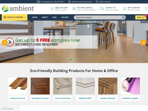 Ambient Building Products provides eco-friendly building materials