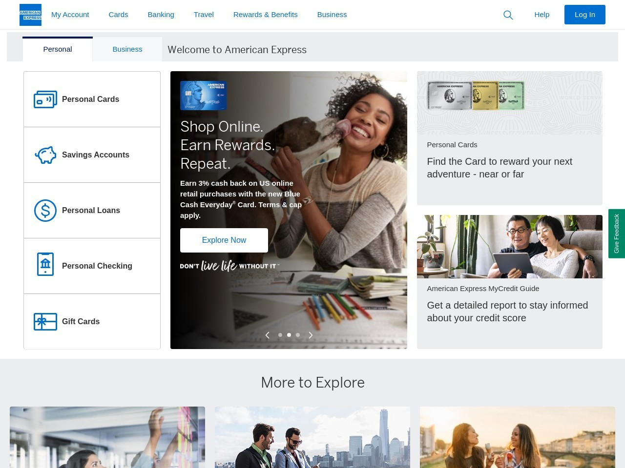 Log In to My Account | American Express India