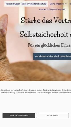 Vorschau der mobilen Webseite www.amipets.de, amipets - Heike Schwager - Katzenpsychologie