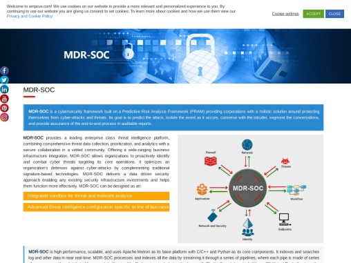 MDR-SOC is a cybersecurity framework services   Ampcus Inc