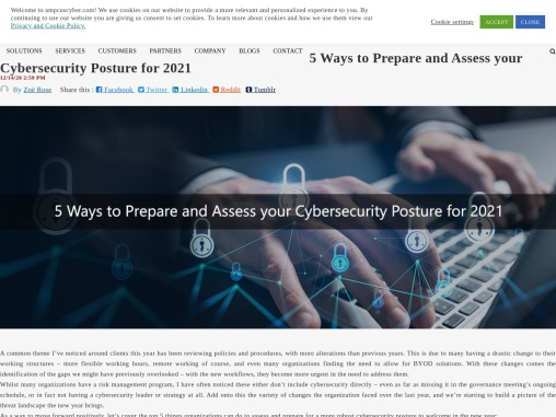 5 Ways to Prepare and Assess your Cybersecurity Posture for 2021