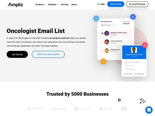 #1 Oncologist Email List for Healthcare Market
