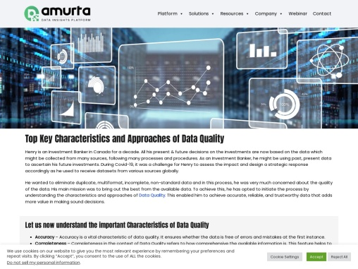 Top Key Characteristics and Approaches of Data Quality