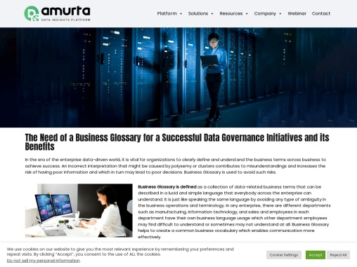 The Need of a Business Glossary for a Successful Data Governance Initiatives and its Benefits