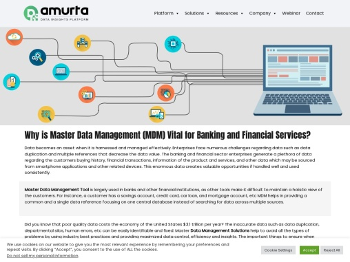 """""""Why is Master Data Management (MDM) Vital for Banking and Financial Services? """""""