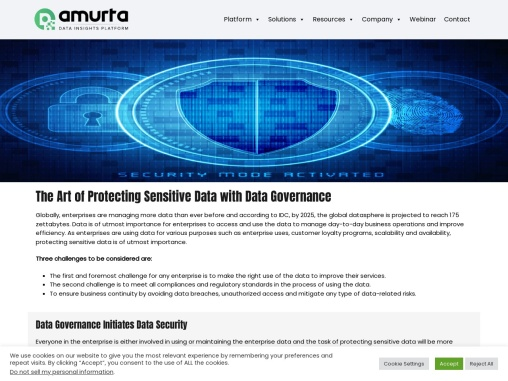 The Art of Protecting Sensitive Data with Data Governance
