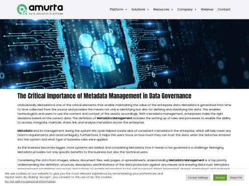 The Critical Importance of Metadata Management in Data Governance