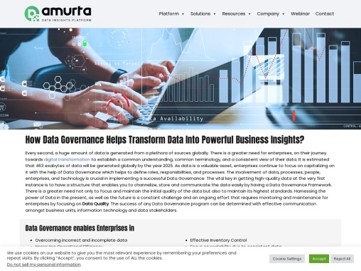 How Data Governance Helps Transform Data Into Powerful Business Insights?