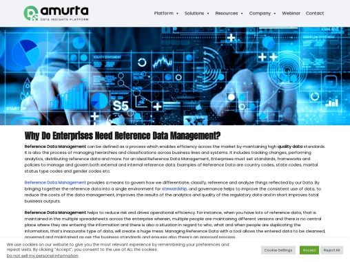 Why Do Enterprises Need Reference Data Management?