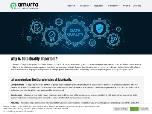 Why is Data Quality Important? Common Data Quality Metrics to Measure Quality of the Data