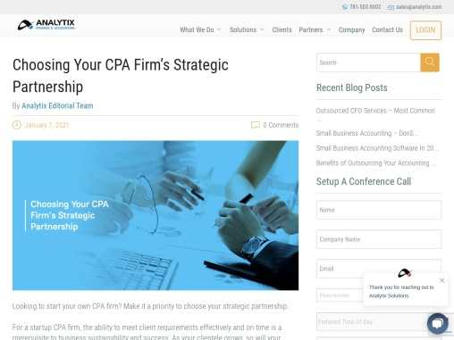 Choosing Your CPA Firm's Strategic Partnership