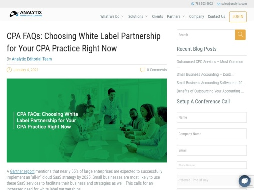 CPA FAQs: Choosing White Label Partnership for Your CPA Practice Right Now