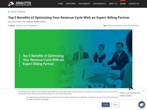 Top 5 Benefits of Optimizing Your Revenue Cycle With an Expert Billing Partner