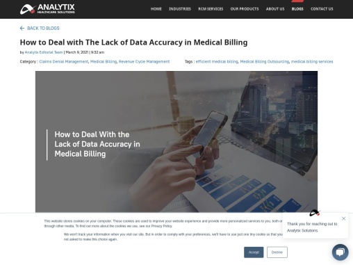 How to Deal with The Lack of Data Accuracy in Medical Billing
