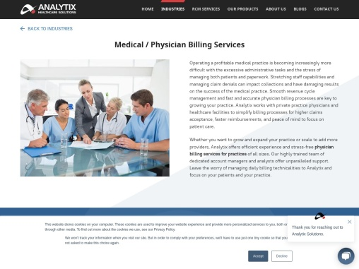Physician Billing Services – Analytix Healthcare