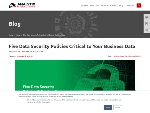 Five Data Security Policies Critical to Your Business Data