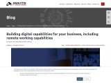Building digital capabilities for your business, including remote working capabilities