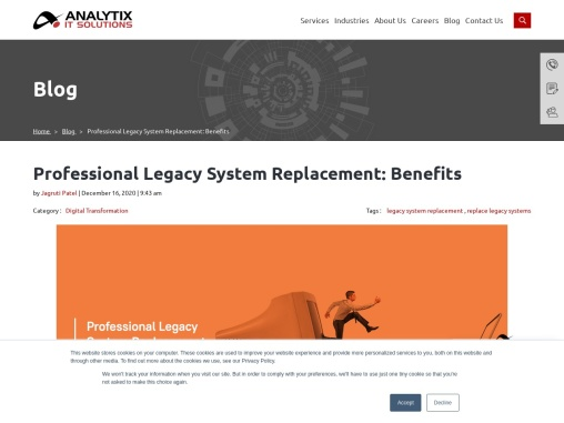 Professional Legacy System Replacement: Benefits