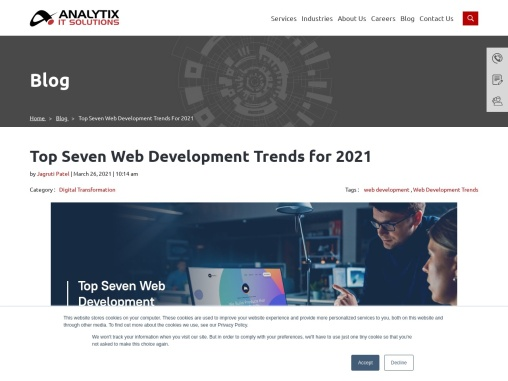 Top Seven Web Development Trends for 2021