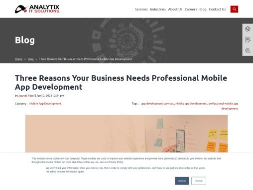 Three Reasons Your Business Needs Professional Mobile App Development
