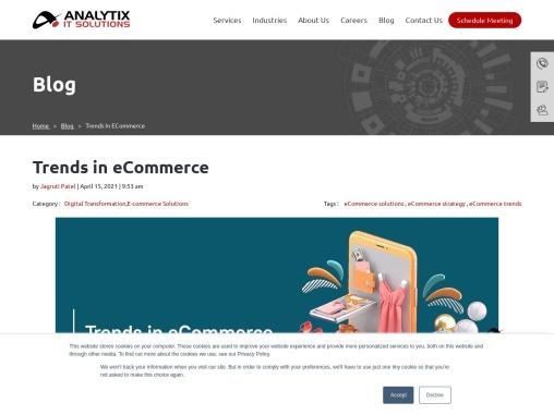 Trends in eCommerce – Analytix IT