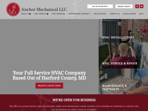 Anchor Mechanical LLC – HVAC Services in MD