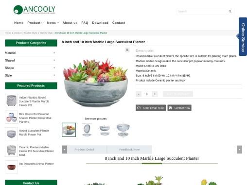 Ceramic Succulent Planter   Ceramic Planter   Ancooly.com
