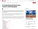 Tempat wisata yang populer dan lagi hits di Padang Lawas Sumatera Utara