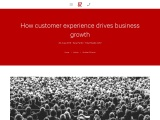 How Customers experience drives Business Growth