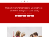 Medical eCommerce Website Development – Southern Biological – Case Study