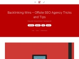 Backlinking Wins – Offsite SEO Agency tricks and tips