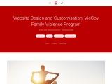 Website Design and Customisation: VicGov Family Violence Program