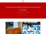 How word of Mouth equals product brand success   Andmine