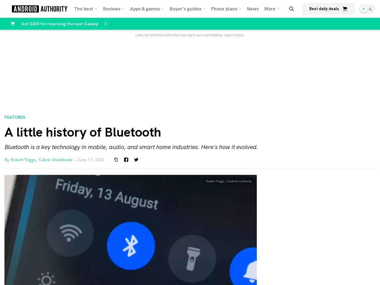 The history of Bluetooth