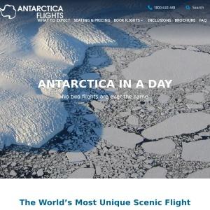 Antarctica Flights | Sightseeing Flights from Australia