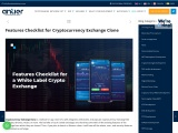 Cryptocurrency Exchange Clone: Features Checklist