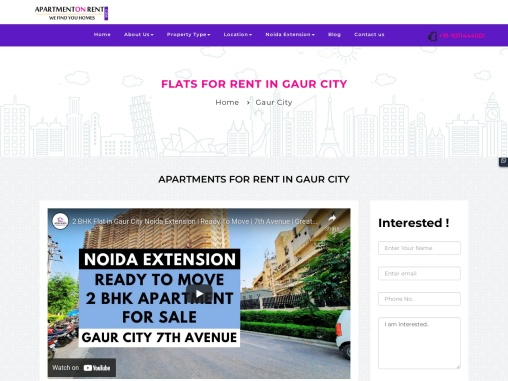 Apartments On Rent In Gaur City