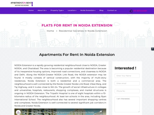 Luxury Apartments for rent in Noida Extension
