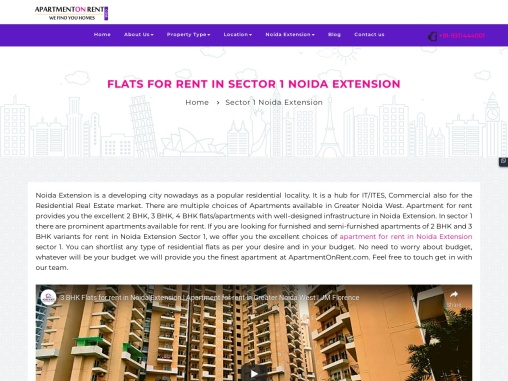 Apartment For Rent In Sector-1 Noida Extension