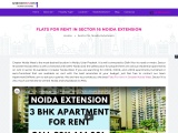 Apartment For Rent In Sector 16 Noida Extension