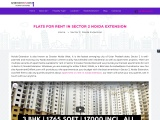 Apartment for Rent in Sector 2 Noida Extension | Flats on Rent Sector 2 Noida Extension