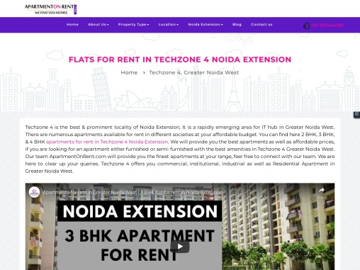 Apartments On Rent In Techzone 4 Noida Extension