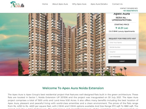 Apex Aura Property In Sector-1 Greater Noida West